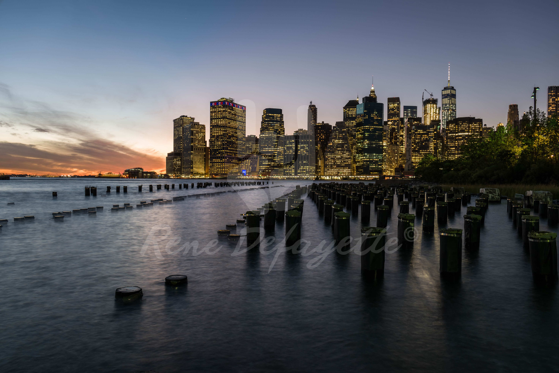 East River Skyline Sunset