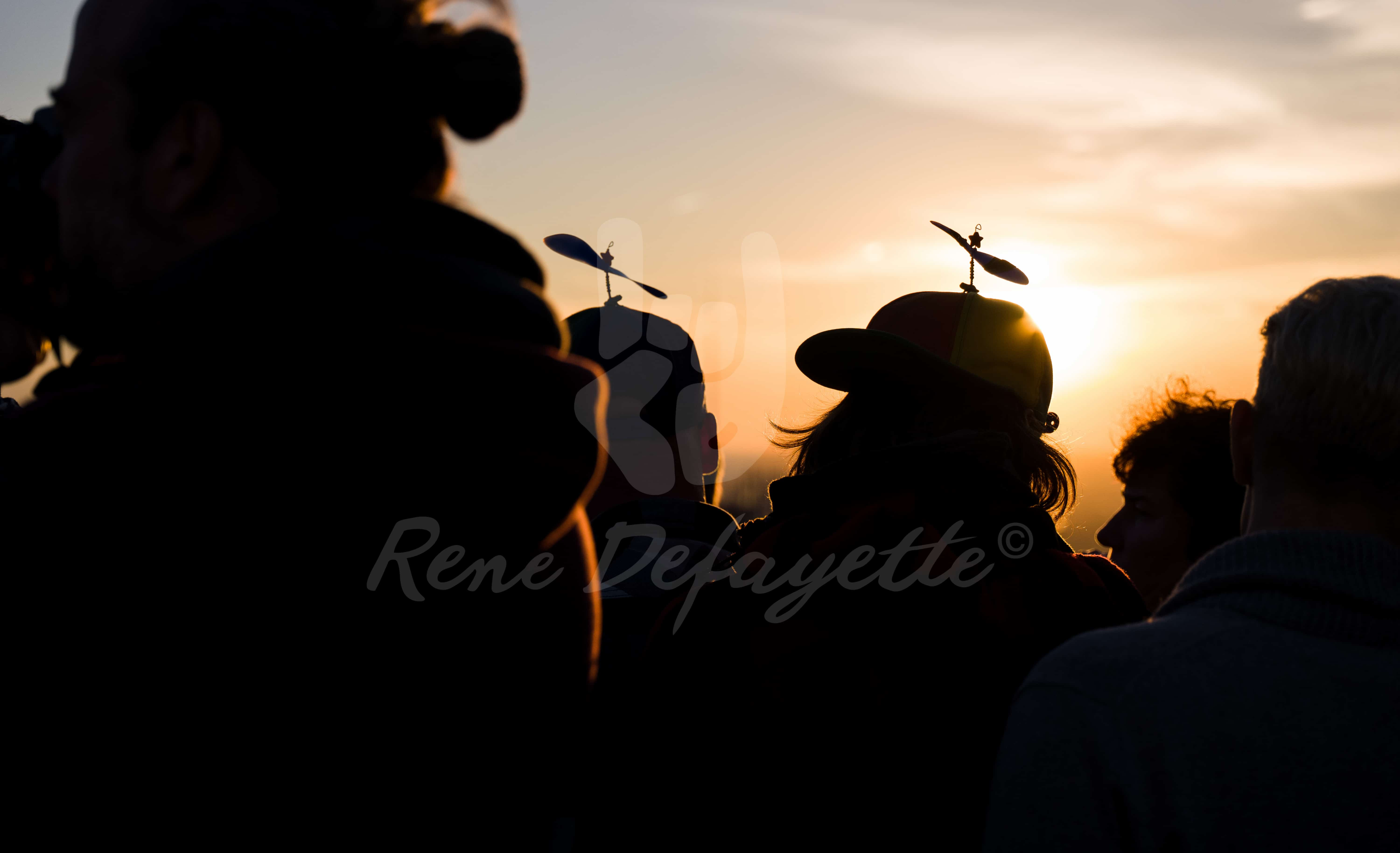 Sunset Propeller Hats at the Rock